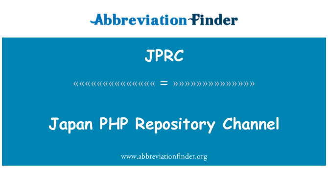 JPRC: Jaapan PHP hoidla kanal