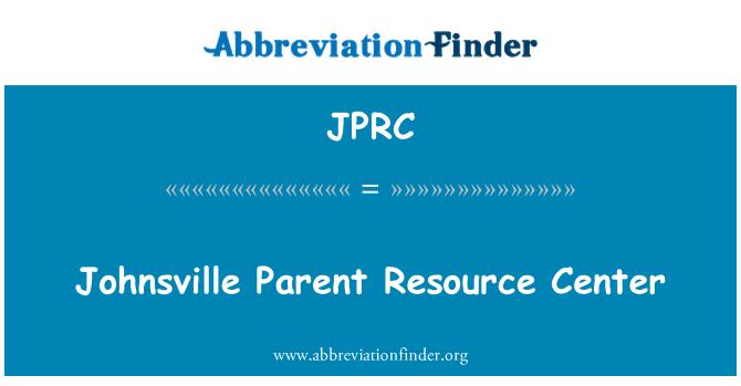 JPRC: Johnsville vanem Resource Center