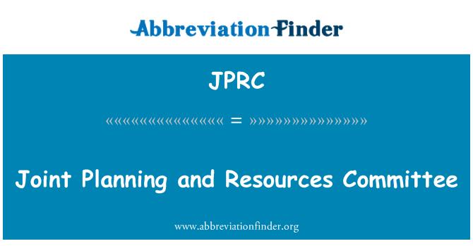 JPRC: Ühine planeerimine ja ressursside komitee