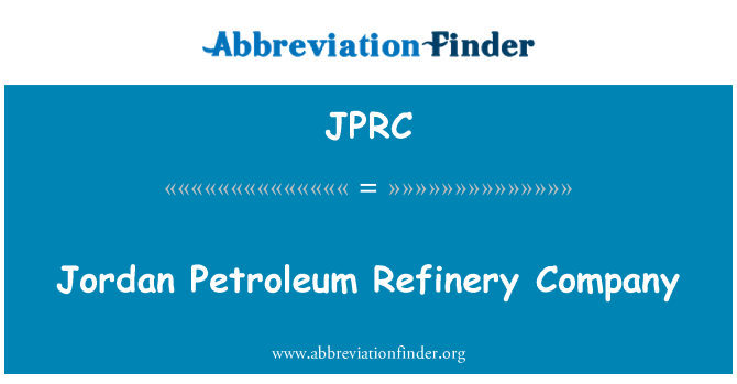 JPRC: Jordan petrol rafineri şirketi