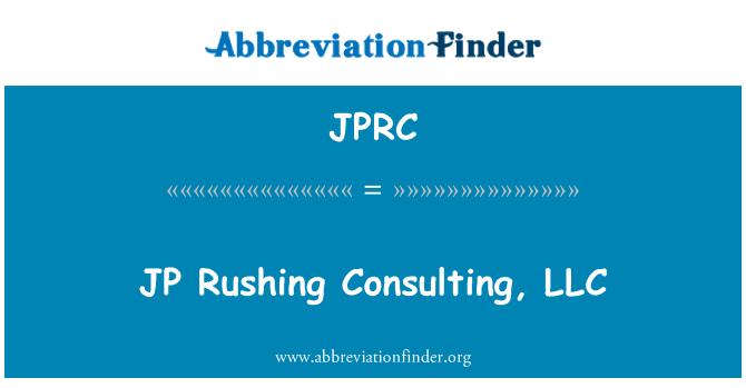 JPRC: Danışmanlık, LLC acele JP