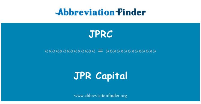 JPRC: JPR kapitali
