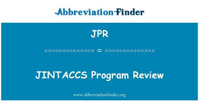 JPR: JINTACCS Program Review