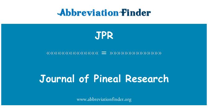 JPR: Journal of Pineal Research