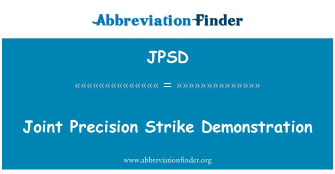 JPSD: Joint Precision grev gösteri