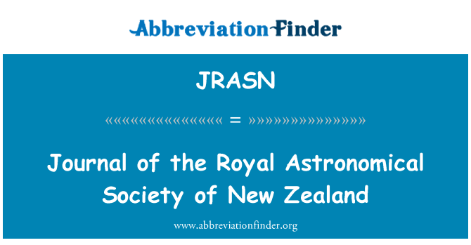 JRASN: Journal of the Royal Astronomical Society of New Zealand