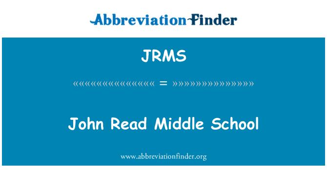 JRMS: John Read Middle School