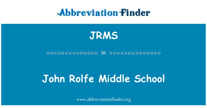 JRMS: John Rolfe Middle School