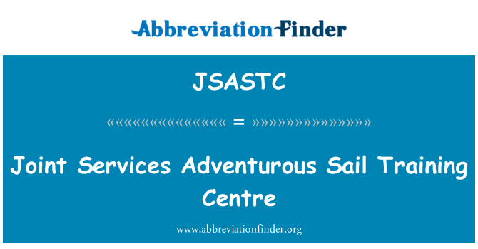 JSASTC: Joint Services Adventurous Sail Training Centre