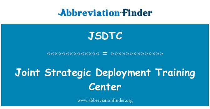JSDTC: Centro de capacitación de implementación estratégica conjunta