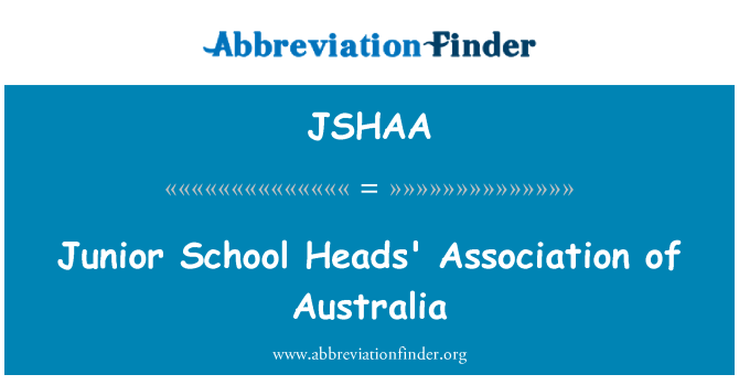 JSHAA: Junior School Heads' Association of Australia