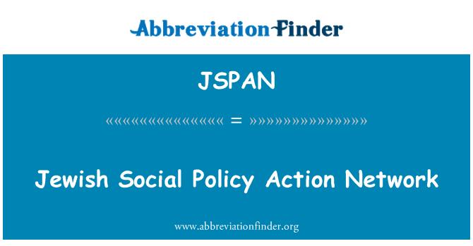 JSPAN: Red de acción política Social judía