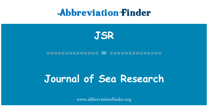 JSR: Journal of Sea Research