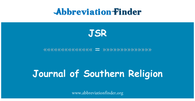 JSR: Journal of Southern Religion