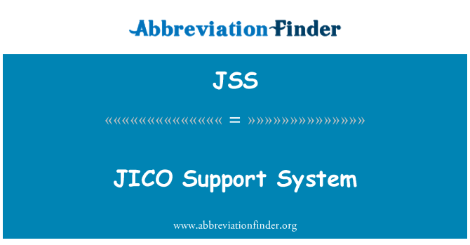 JSS: JICO   Support System