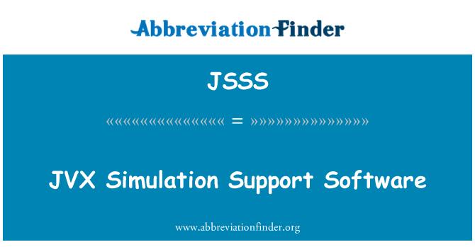 JSSS: JVX   Simulation Support Software