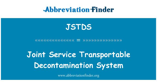 JSTDS: Joint Service Transportable Decontamination System