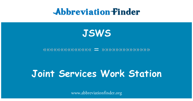 JSWS: Joint Services Work Station