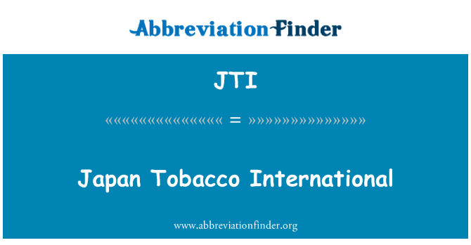 JTI: Japan Tobacco International
