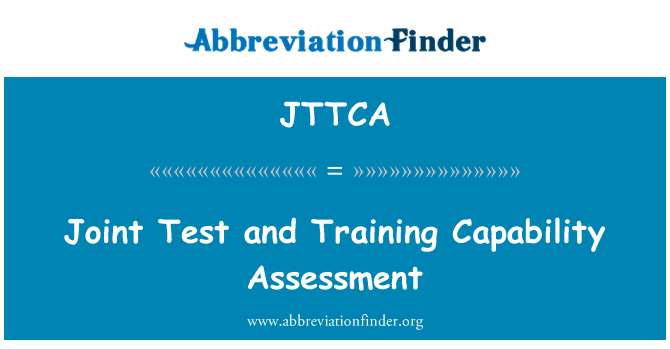 JTTCA: Joint Test and Training Capability Assessment