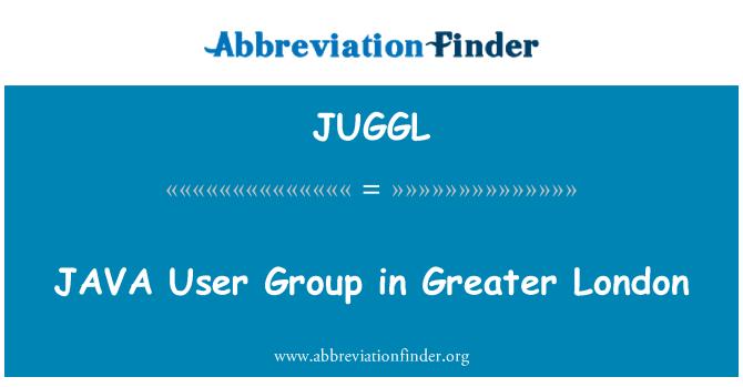 JUGGL: Grupo de usuarios de JAVA en Londres