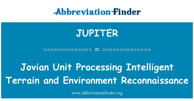 JUPITER: Jovian Unit Processing Intelligent Terrain and Environment Reconnaissance