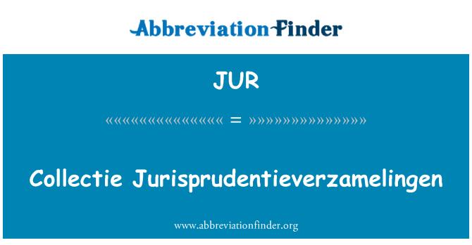JUR: Collectie Jurisprudentieverzamelingen