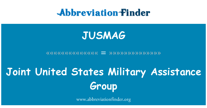JUSMAG: Joint United States Military Assistance Group