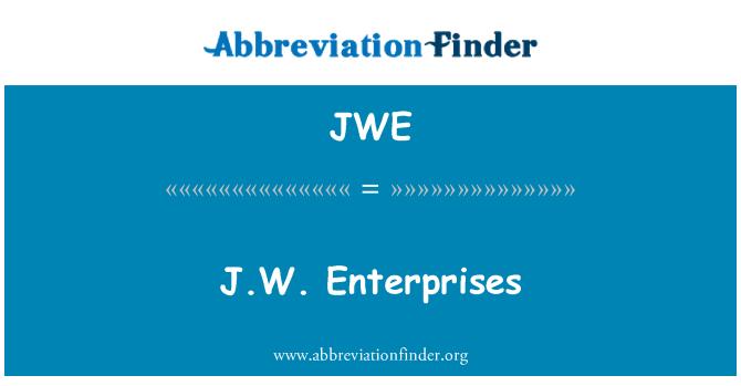 JWE: JW Sirketler