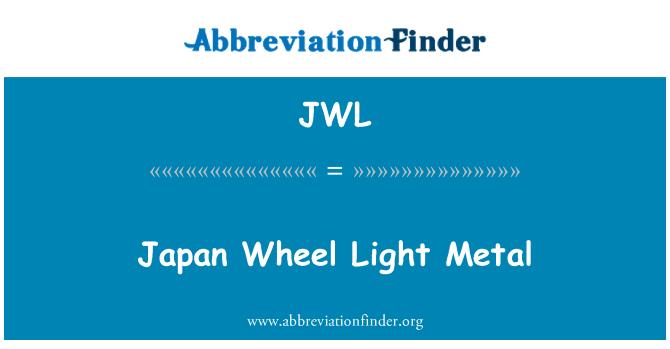 JWL: Japón rueda Metal ligero