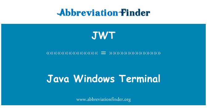 JWT: Java Windows Terminal