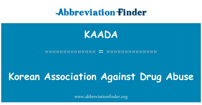 KAADA: Korean Association Against Drug Abuse