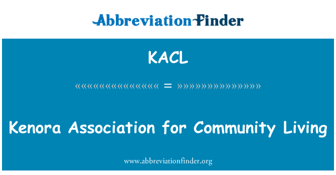 KACL: Toplumun yaşam için Kenora Derneği