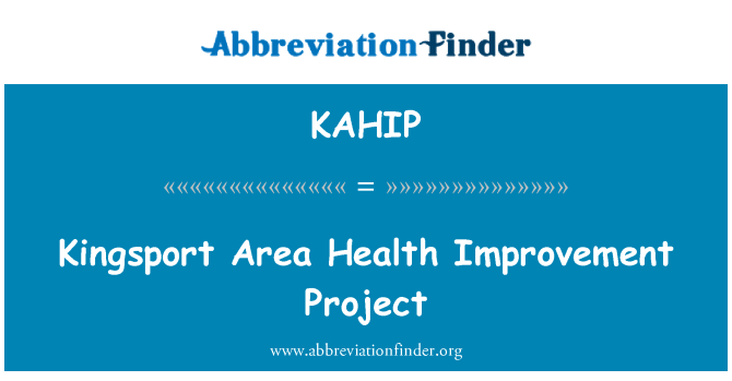 KAHIP: Kingsport Area Health Improvement Project