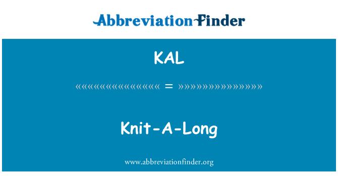 KAL: Knit-A-Long
