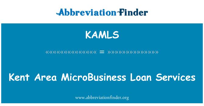 KAMLS: Kent Area MicroBusiness Loan Services