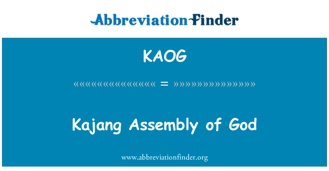 KAOG: Kajang Assembly of God