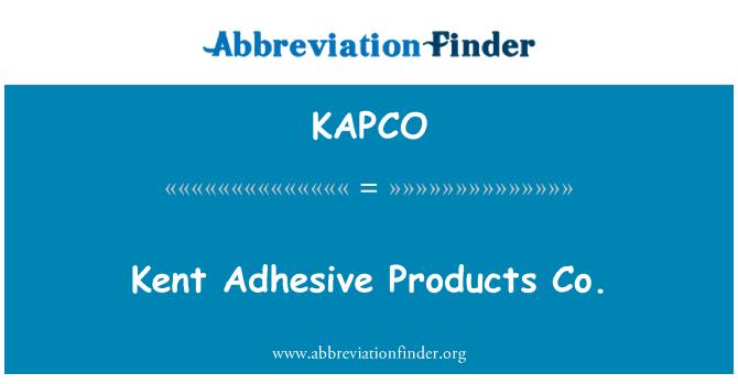 KAPCO: Kent yapıştırıcı ürünleri a.ş.