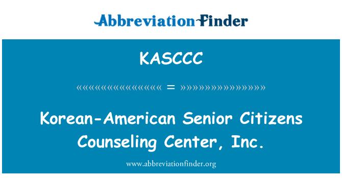 KASCCC: Korean-American Senior Citizens Counseling Center, Inc.