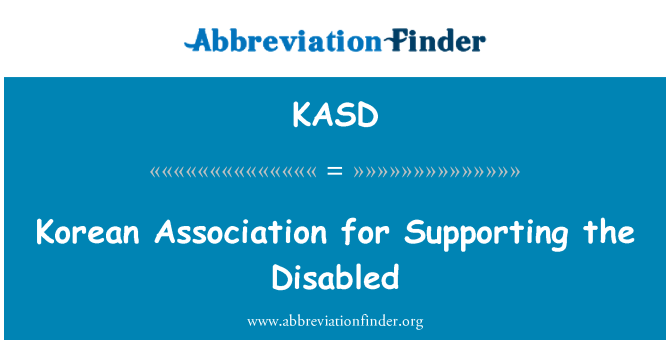 KASD: Korean Association for Supporting the Disabled