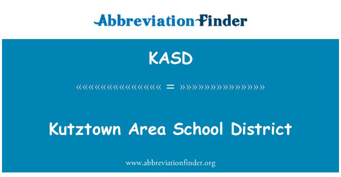 KASD: Distrito Escolar del área de Kutztown