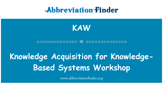 KAW: Knowledge Acquisition for Knowledge-Based Systems Workshop