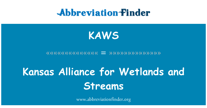 KAWS: Kansas Alliance for Wetlands and Streams