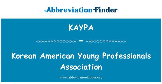 KAYPA: Korean American Young Professionals Association