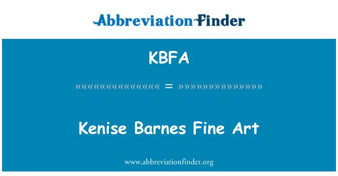 KBFA: Kenise Barnes Fine Art