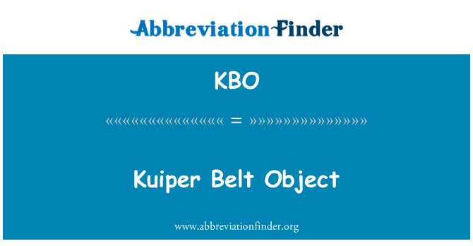 KBO: Kuiper Belt Object