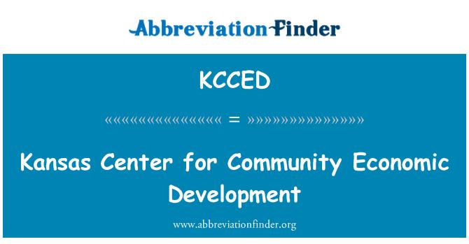 KCCED: Kansas Center pro hospodářský rozvoj Společenství