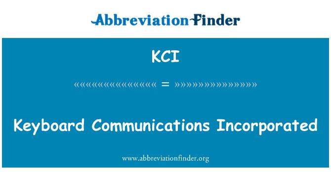 KCI: Comunicaciones teclado incorporadas