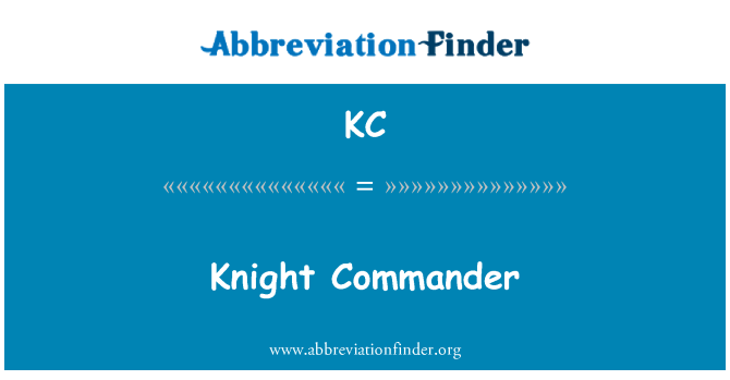 KC: Knight Commander