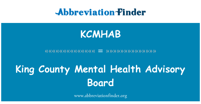 KCMHAB: King County Mental Health Advisory Board